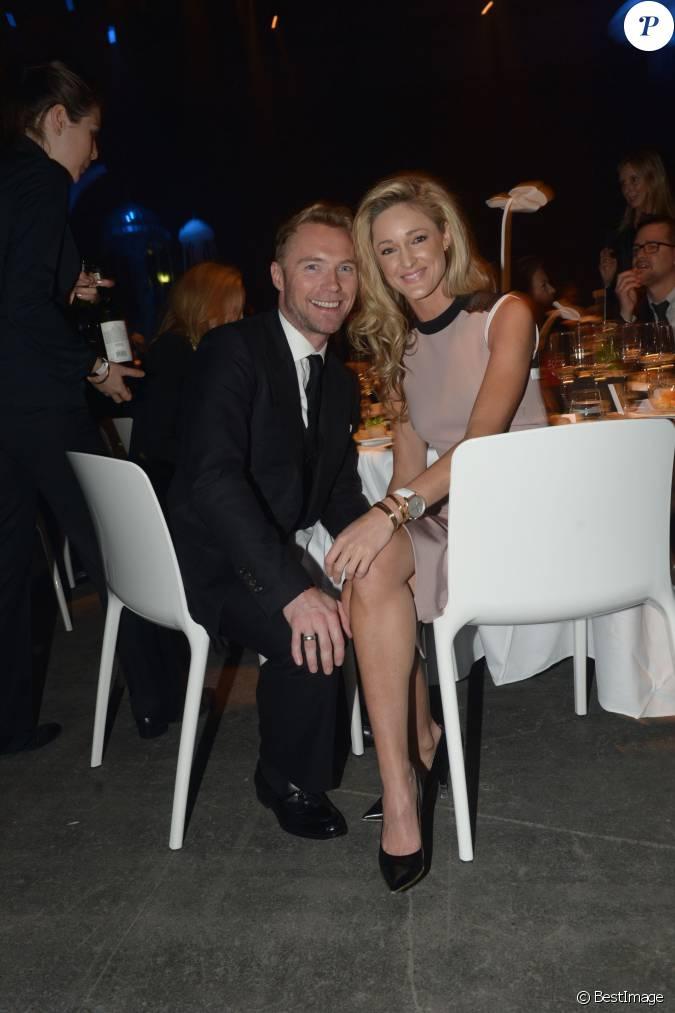 Ronan keating et sa compagne storm uechtritz lors du gala for Salon du divorce
