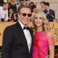 Kevin Costner et Christine Baumgartner - 21e édition des Screen Actors Guild Awards à Los Angeles le 25 janvier 2015