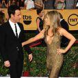 Justin Theroux, Jennifer Aniston - 21e édition des Screen Actors Guild Awards à Los Angeles le 25 janvier 2015
