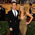 Justin Theroux, Jennifer Aniston attending the 21st Annual Screen Actors Guild Awards at the Shrine Auditorium in Los Angeles, CA, USA, on January 25, 2015. Photo by Kyle Rover/Startraks/ABACAPRESS.COM26/01/2015 - Los Angeles