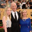 Michelle Schumacher, J.K. Simmons et Olivia Simmons - 21e édition des Screen Actors Guild Awards à Los Angeles le 25 janvier 2015