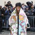 Anna Dello Russo arrive au Musée Rodin pour assister au défilé Christian Dior haute couture printemps-été 2015. Paris, le 26 janvier 2015.