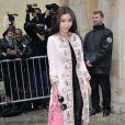 Li Bingbing arrive au Musée Rodin pour assister au défilé Christian Dior haute couture printemps-été 2015. Paris, le 26 janvier 2015.