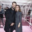 Natalie Portman et son mari Benjamin Millepied assistent au défilé Christian Dior haute couture printemps-été 2015 au musée Rodin. Paris, le 26 janvier 2015.