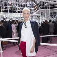 Aymeline Valade assiste au défilé Christian Dior haute couture printemps-été 2015 au musée Rodin. Paris, le 26 janvier 2015.