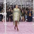 Natalie Portman, Benjamin Millepied, Elizabeth Olsen et Kris Van Assche assistent au défilé Christian Dior haute couture printemps-été 2015 au musée Rodin. Paris, le 26 janvier 2015.