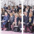Baron Albert Frere et sa femme, Bernadette Chirac, Bernard Arnault et sa femme Hélène assistent au défilé Christian Dior haute couture printemps-été 2015 au musée Rodin. Paris, le 26 janvier 2015.