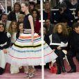 Clotilde Courau, Angelababy, Marisa Berenson, Benjamin Millepied, Natalie Portman et Sidney Toledano assistent au défilé Christian Dior haute couture printemps-été 2015 au musée Rodin. Paris, le 26 janvier 2015.