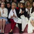 Maddison Brown, Aymeline Valade, Clotilde Courau et l'actrice-chanteuse chinoise Angelababy assistent au défilé Christian Dior haute couture printemps-été 2015 au musée Rodin. Paris, le 26 janvier 2015.