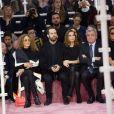 Marisa Berenson, Benjamin Millepied, Natalie Portman, Sidney et Katia Toledano assistent au défilé Christian Dior haute couture printemps-été 2015 au musée Rodin. Paris, le 26 janvier 2015.