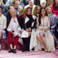 Maddison Brown, Aymeline Valade, Clotilde Courau et Angelababy assistent au défilé Christian Dior haute couture printemps-été 2015 au musée Rodin. Paris, le 26 janvier 2015.