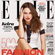 Keira Knightley en couverture du numéro de Mars du magazine ELLE UK.