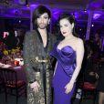 Conchita Wurst et Dita Von Teese au dîner de la mode pour le Sidaction au pavillon d'Armenonville à Paris le 29 janvier 2015.