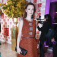 Audrey Marnay au dîner de la mode pour le Sidaction au pavillon d'Armenonville à Paris le 29 janvier 2015.
