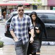 Scott Disick et Kim Kardashian à Los Angeles, le 30 janvier 2015.