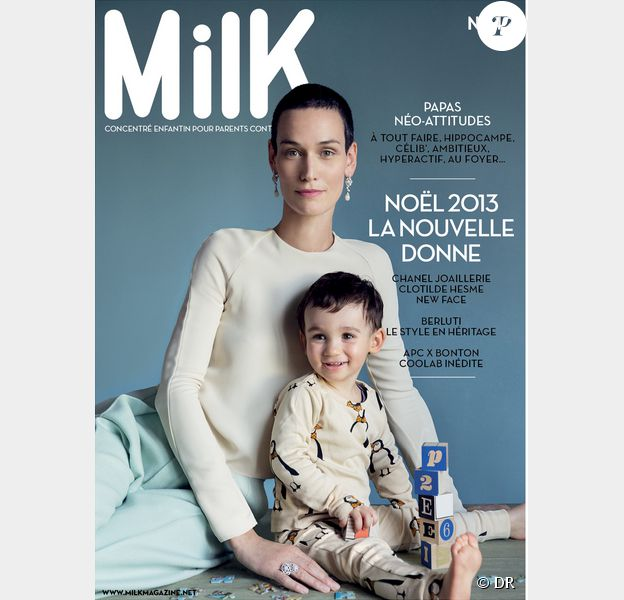 Le magazine Milk du mois de 2013 avec Clotilde Hesme et son fils en couverture