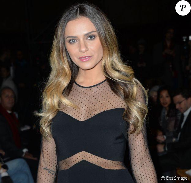 """Clara Morgane - People au défilé de mode """"Franck Sorbier"""", collection Haute Couture printemps-été 2015, à Paris, le 28 janvier 2015"""
