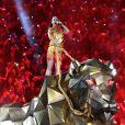 Katy Perry  - Halftime show du Super Bowl à Phoenix en Arizona, le 1er février 2015.
