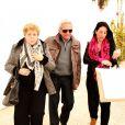 Nidia del Carmen Ripoll Torrado et William Mebarak Chadid, les parents de Shakira - Shakira et Gerard Piqué quittent la maternité avec leur nouveau né Sasha à Barcelone le 2 février 2015.