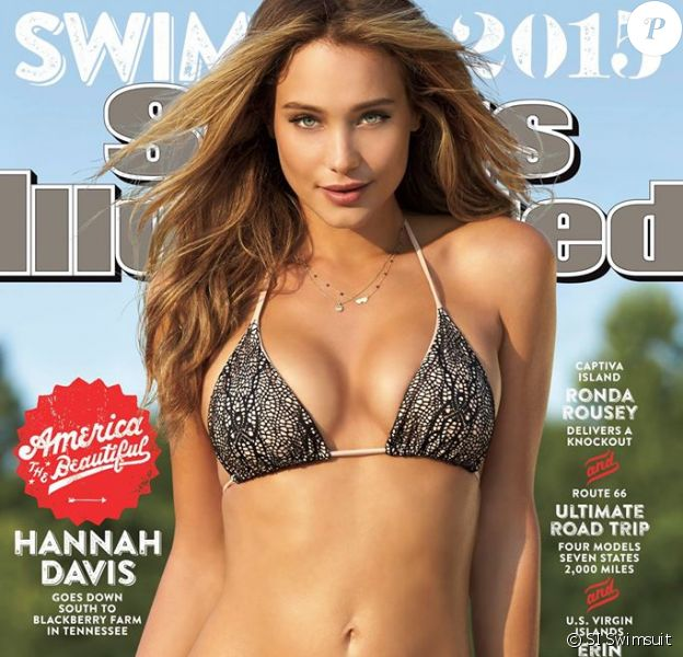 Hannah Davis apparaît en couverture du numéro de 2015 de Sports Illustrated Swimsuit. Photo par Ben Watts.