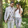 Exclusif - Rendez-vous avec Julien Guirado et Vanessa Lawrens (le couple qui fait le buzz dans Les Anges de la télé réalité 6) au Domaine de Beaulieu. Ils ont passé leurs vacances et préparé leur nouveau projet fashion hors télé réalité, invités dans ce domaine viticole de Saint-Tropez. Mai 2014.