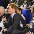 Le prince Harry à Nottingham le 3 février 2015 pour une rencontre avec les enfants impliqués dans le film de l'association Full Effect Youth Project, le 3 février 2015