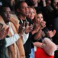 Diddy, Jay Z, Beyoncé et Kim Kardashian assistent à la présentation de la collection YEEZY SEASON 1 (adidas Originals x Kanye West) au studio Skylight Clarkson Square. New York, le 12 février 2015.