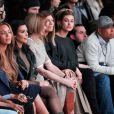 Beyoncé, Kim Kardashian, Anna Wintour, Virginia Smith, Hailey Baldwin et Russell Simmons assistent à la présentation de la collection YEEZY SEASON 1 (adidas Originals x Kanye West) au studio Skylight Clarkson Square. New York, le 12 février 2015.
