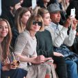 Beyoncé Knowles, Anna Wintour, Hailey Baldwin et Russell Simmons assistent à la présentation de la collection YEEZY SEASON 1 (adidas Originals x Kanye West) au studio Skylight Clarkson Square. New York, le 12 février 2015.