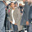Big Sean arrive au studio Skylight Clarkson Square pour assister à la présentation de la collection YEEZY SEASON 1 (adidas Originals x Kanye West). New York, le 12 février 2015.