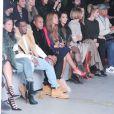 Cassie, Diddy, Jay Z, Beyoncé, Kim Kardasian, Anna Wintour, Virginia Smith, Hailey Baldwin et Russell Simmons assistent à la présentation de la collection YEEZY SEASON 1 (adidas Originals x Kanye West) au studio Skylight Clarkson Square. New York, le 12 février 2015.