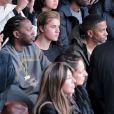 2 Chainz, Justin Bieber et Big Sean assistent à la présentation de la collection YEEZY SEASON 1 (adidas Originals x Kanye West) au studio Skylight Clarkson Square. New York, le 12 février 2015.
