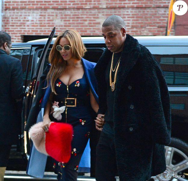 Beyoncé et Jay Z à New York, le 12 février 2015.