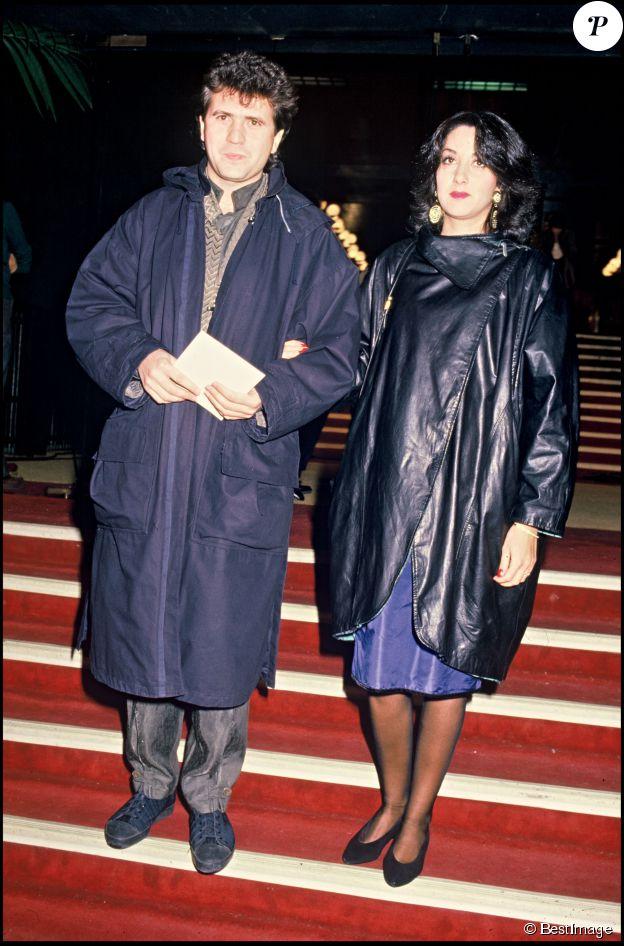 Daniel Balavoine et Corinne lors des Victoires de la Musique 1985