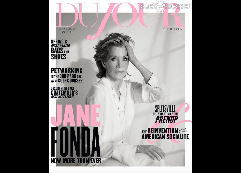 Jane Fonda en couverture de Du Jour, printemps 2015