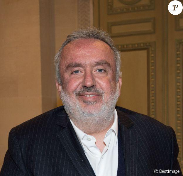 Dominique Farrugia - Remise de la Médaille d'Or de l'Académie des Arts et Techniques du Cinéma à Luc Besson par Alain Terzian, à la Monnaie de Paris, le 19 janvier 2015.