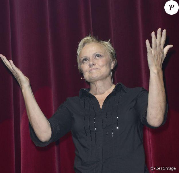"""Muriel Robin - Generale du spectacle de Muriel Robin """"Robin Revient Tsoin Tsoin"""" au Theatre de la porte Saint-Martin a Paris, le 23 septembre 2013.23/09/2013 - Paris"""