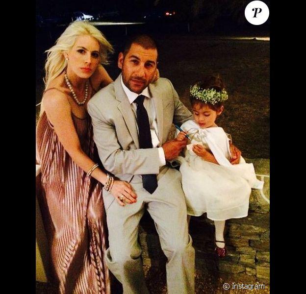 Shayne Lamas avec son mari Nik et leur fille Press, le 4 juillet 2014