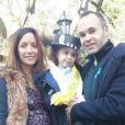 Andrés Iniesta et sa femme Anna Ortiz et leur fille Valeria - 2014