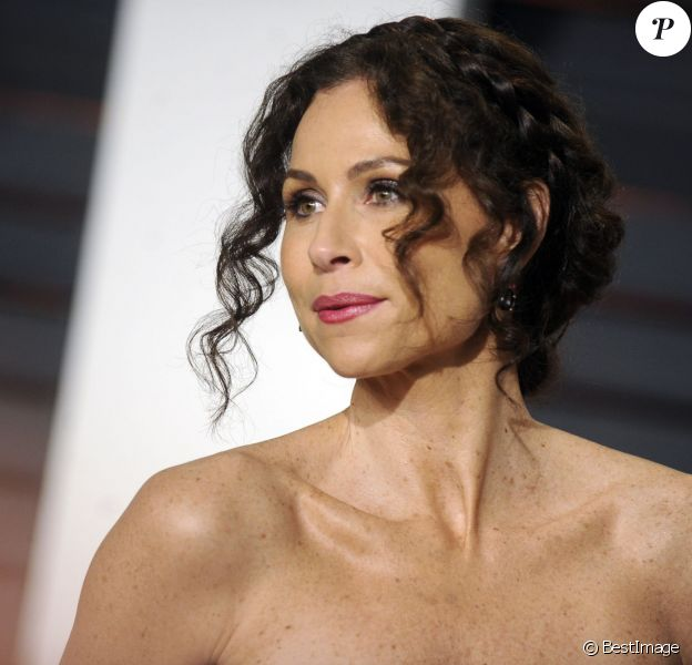 "Minnie Driver à la soirée ""Vanity Fair Oscar Party"" à Hollywood, le 22 février 2015."