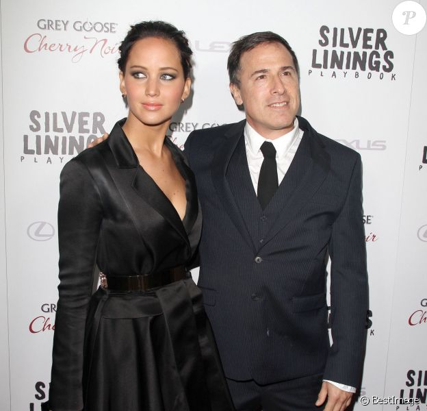 """Jennifer Lawrence, David O. Russell - Premiere de """"Silver Linings Playbook"""" a Beverly Hills, le 19 novembre 2012."""