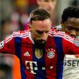 Franck Ribery lors d'un match de Ligue des champions entre le Bayern Munich et le CSKA Moscou à Munich, le 10 décembre 2014