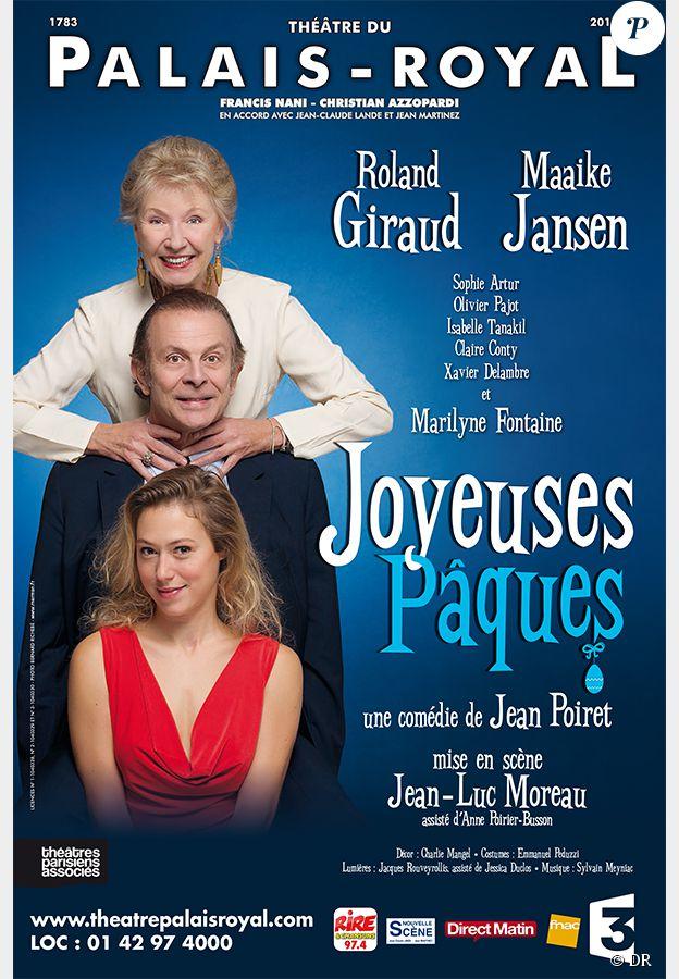 Roland Giraud, Maaike Jansen et Marilyne Fontaine se donnent la réplique dans Joyeuses Pâques, dans une mise en scène de Jean-Luc Moreau.