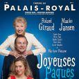 Roland Giraud, Maaike Jansen et Marilyne Fontaine se donnent la réplique dans   Joyeuses Pâques  , dans une mise en scène de Jean-Luc Moreau.