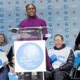 Chirlane McCray à la marche pour l'égalité des genres et les droits des femmes à New York, le 8 mars 2015