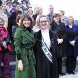 Gemma Arterton & Laura Pankhurst lors de la journée de la femme à Londres, le 8 mars 2015