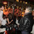 Exclusif - Thomas Blumenthal, Karidja Touré, Joséphine Japy, Ahmed Dramé et Josée Dayan - Soirée des jeunes espoirs du cinéma français avec un dîner au restaurant La Petite Maison de Nicole suivi d'une soirée au Queen à Paris, le 6 mars 2015.