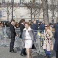 Léa Seydoux au Conseil Économique et Social lors du défilé Miu Miu automne-hiver 2015-2016. Paris, le 11 mars 2015.