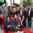 Melissa Rauch, Mayim Bialik, Kaley Cuoco, Jim Parsons, Johnny Galecki, Simon Helberg, Kunal Nayyar - Jim Parsons reçoit son étoile sur Hollywood Walk of Fame, le 10 mars 2015