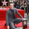 Jim Parsons - Jim Parsons reçoit son étoile sur Hollywood Walk of Fame, le 10 mars 2015